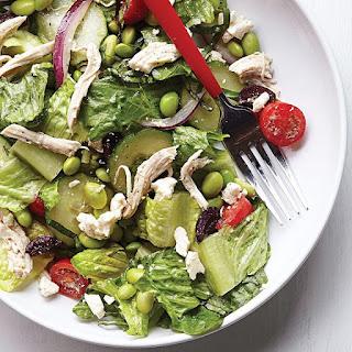 Edamame & Chicken Greek Salad.