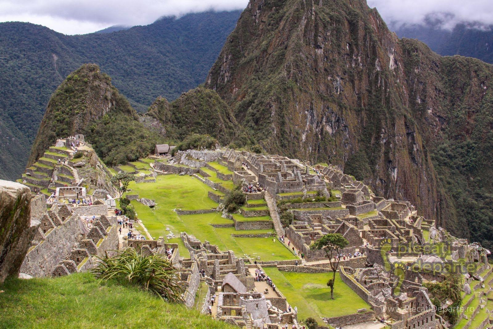 Machu Picchu, orasul pierdut al incasilor, vazut coborand de pe Inca Trail (Camiono Inca sau Drumul Incas)