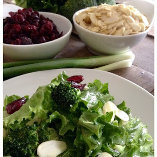 Broccoli Almond Cranberry Salad