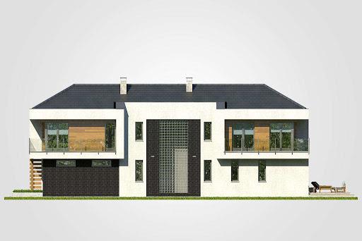 Modern House II - Elewacja prawa