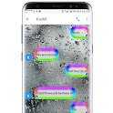 SMS Go Water Bubbles Theme with Rainbow Colors icon