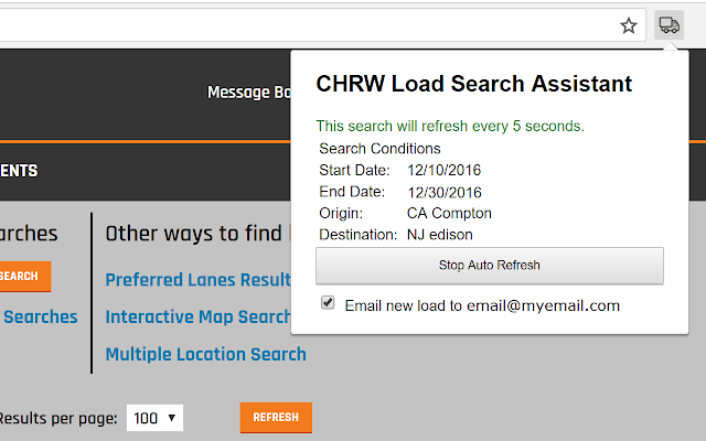 CHRW Load Search Assistant