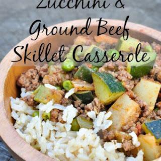 Zucchini and Ground Beef Skillet Casserole.