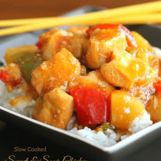 Slow Cooked Sweet And Sour Chicken.