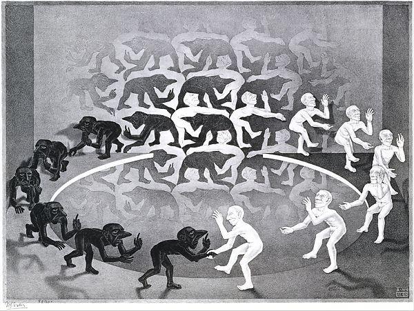 The Encounter, M. C. Escher (Dutch, 1898–1972), Lithograph