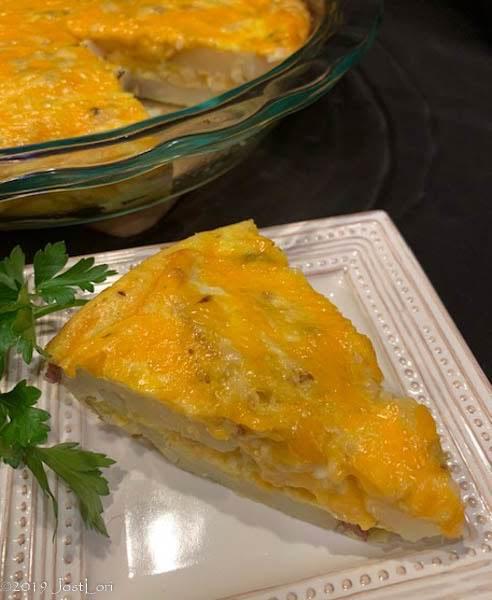 Green Chile Potato Tart
