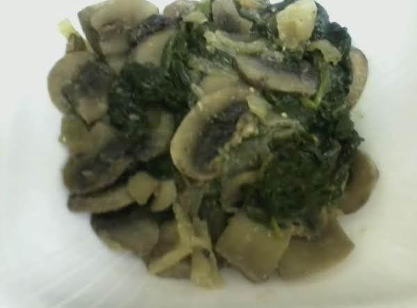 Spinach And Mushroom Saute' Recipe