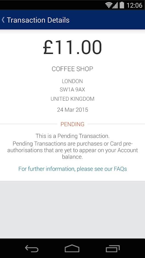 Amex UK- screenshot