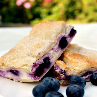 Blueberry Crescent Roll Cheesecake Bars.