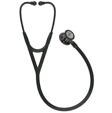 Littmann Cardiology IV Stethoscope, High Polish Smoke-Finish Chestp, Black Tube