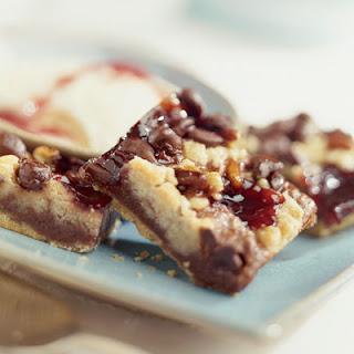 Chocolatey Raspberry Crumb Bars.