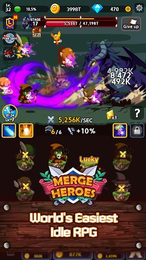 Merge Heroes Frontier: Casual RPG Online  captures d'u00e9cran 2