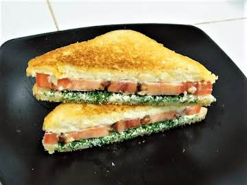 Tomato & Dill Grilled Cream Cheese Sandwich