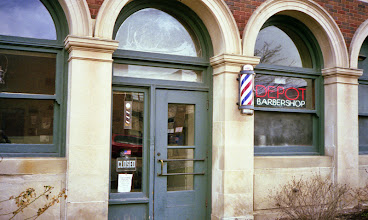 Photo: Barbershop at the old passenger depot Champaign IL