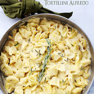 Rosemary Garlic Tortellini Alfredo