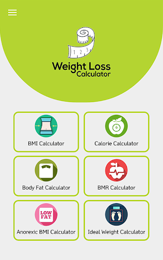 Weight Loss Calculator - BMI, & Calorie Calculator 1 2 Apk