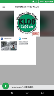 Hometeam 1490 KLOG- screenshot thumbnail