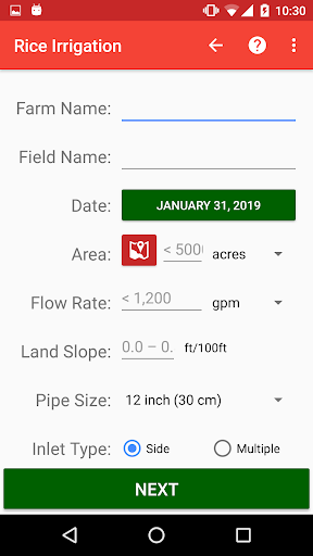 Screenshot for Rice Irrigation in United States Play Store