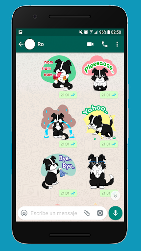 Screenshot for Border Collie Sticker Pack for WhatsApp in Hong Kong Play Store