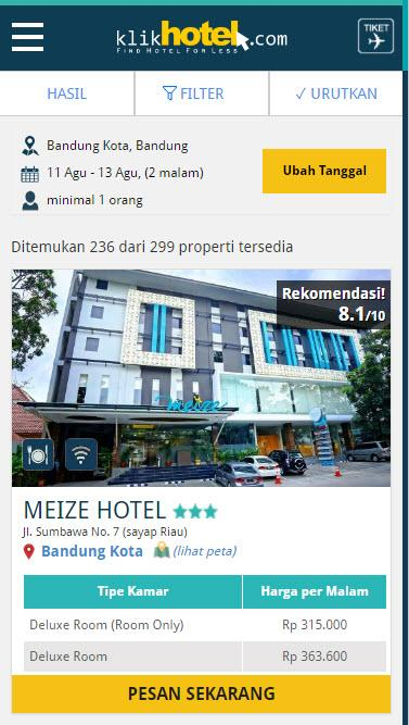 Klikhotel - Booking Hotel- screenshot
