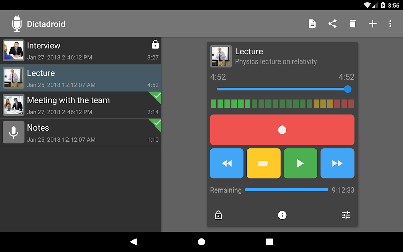 Dictadroid Voice Recorder Screenshot 12