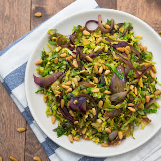 Sweet and Tangy Brussels Sprouts Hash