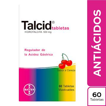 //TALCID CEREZA 500MG   TABLETAS CAJA X60TAB. BAYER HIDROTALCITA
