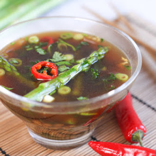 Asian-style Kale And Asparagus Broth With Spelt