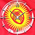 Kyrgyzstan Flag Theme Clock icon