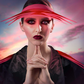 In the red by Alan Payne - Digital Art People ( silk, model, eye makeup, art, edit, beauty, photoshop )