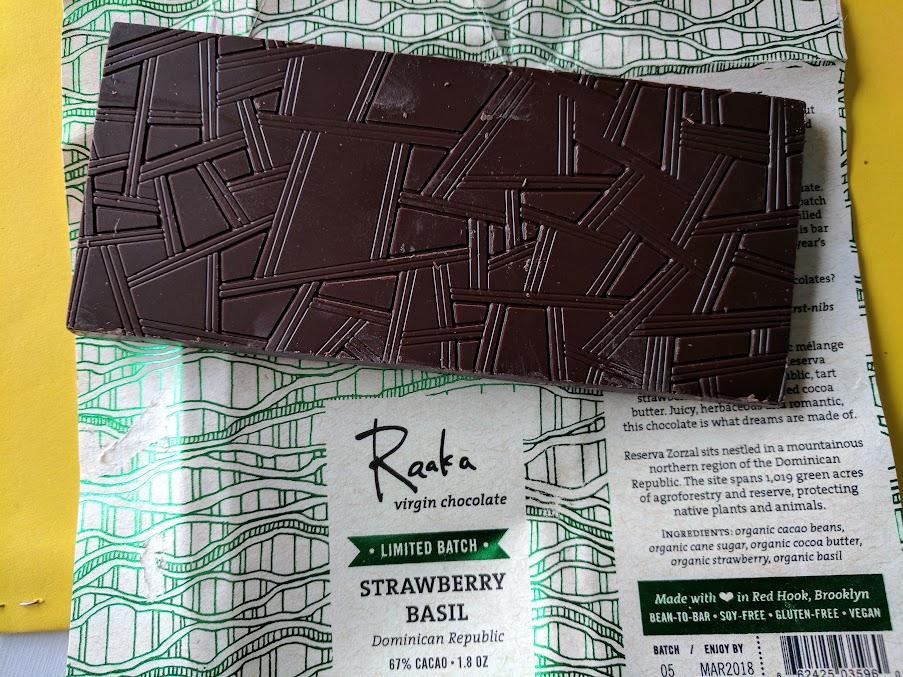 67% raaka strawberry basil bar open