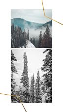 Cabin & Campfire - Photo Collage item