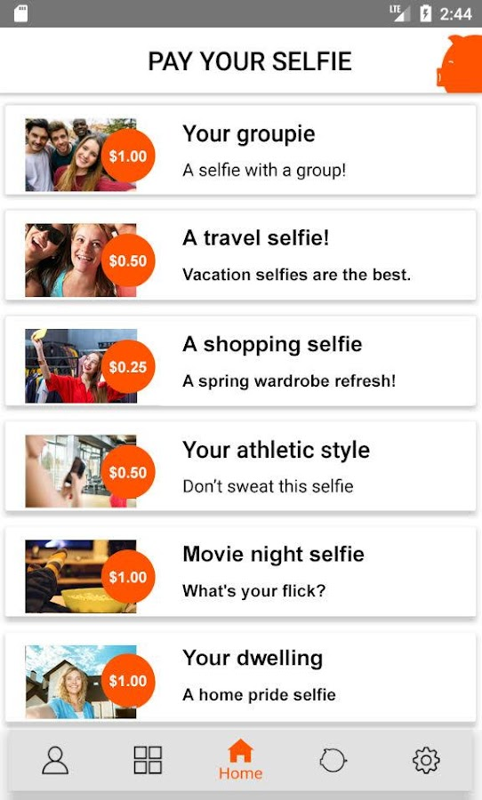 Pay Your Selfie: Selfie Cash!- screenshot