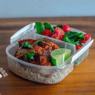 Healthy Chocolate Chicken Mole Meal Prep