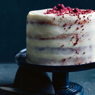 Coconut Sponge With Raspberries And Mascarpone.