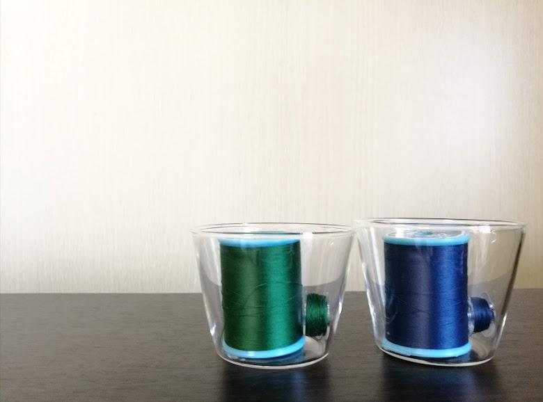 セリア耐熱ガラス製カップは小物入れにも活用可能