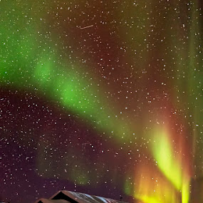 Northern Lights by Justin Ng - Landscapes Starscapes