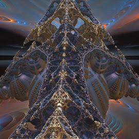 Pisces Peak by Rick Eskridge - Illustration Sci Fi & Fantasy ( fantasy, jwildfire, mb3d, fractal, twisted brush )