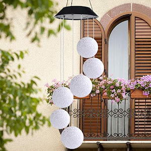 Decoratiune solara de gradina, 6 globuri cu joc de lumini