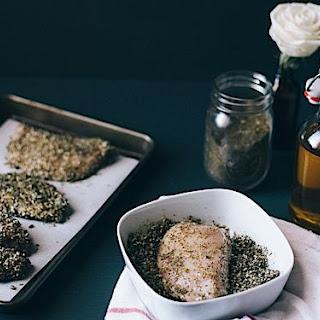 Panko and Za'Atar Crusted Chicken with Balsamic Date Chutney Recipe