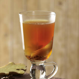 Hot Mulled Wine with Orange and Cinnamon.