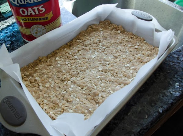 Firmly press about half the mixture into the bottom of the baking dish to...