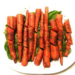 Balsamic Roasted Carrots.