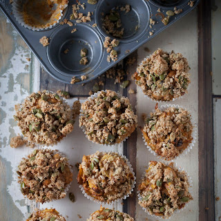 Wholesome Carrot, Apple + Oatmeal Muffins.
