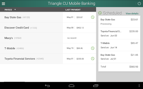 Triangle Credit Union- screenshot thumbnail