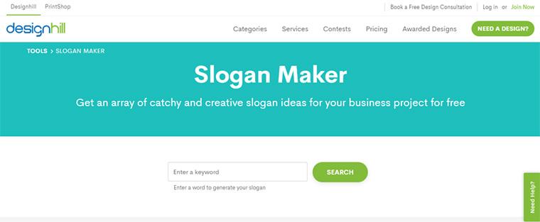 design hill slogan maker