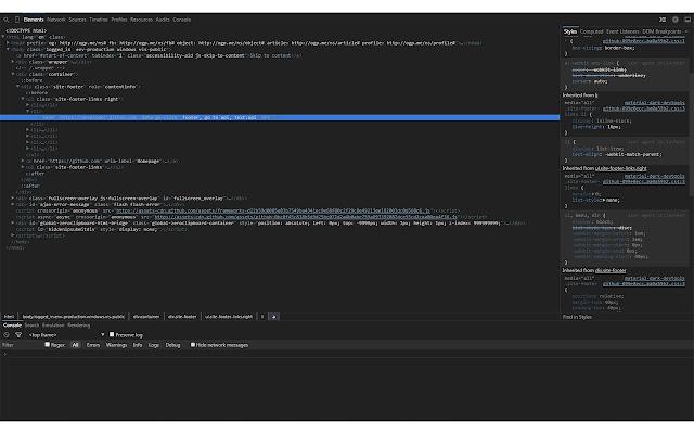 Material Dark DevTools Theme