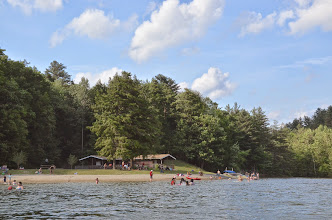 Photo: The day-use beach at Emerald Lake State Park by Linda Carlsen-Sperry