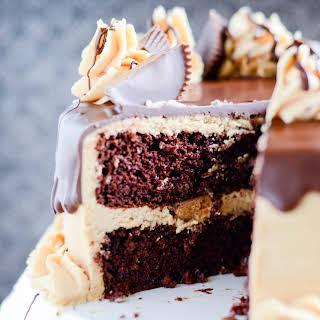 Chocolate Peanut Butter Cup Cake.