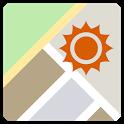 Sunrise Sunset on the Map icon